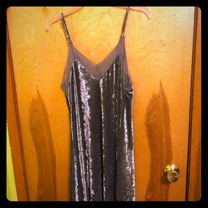 Velvet Silver Bodycon Dress